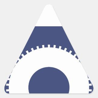 Fermez- à clefle sticker triangulaire