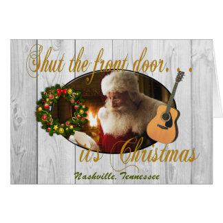 Fermez la carte de Noël de Nashville d'entrée
