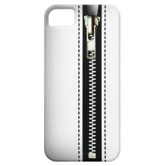 Fermez- la fermeture éclairle - Trompe - l ' blanc Coque iPhone 5 Case-Mate