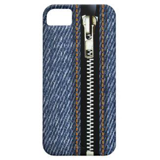 Fermez- la fermeture éclairle - Trompe - l ' denim Coques iPhone 5 Case-Mate