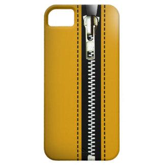 Fermez- la fermeture éclairle - Trompe - l ' jaune Coques iPhone 5 Case-Mate