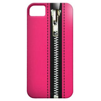 Fermez- la fermeture éclairle - Trompe - l ' rose Coque iPhone 5