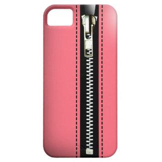Fermez- la fermeture éclairle - Trompe - l ' rose Étui iPhone 5