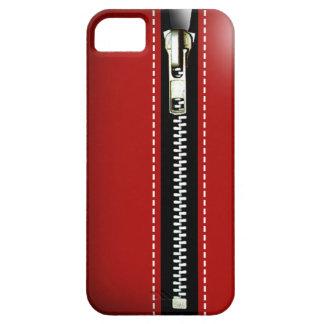 Fermez- la fermeture éclairle - Trompe - l ' rouge Coque iPhone 5 Case-Mate