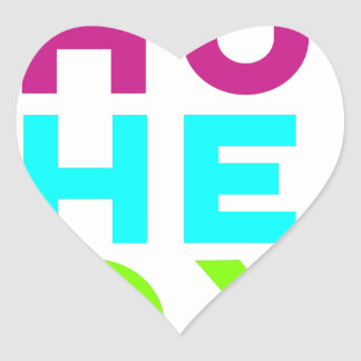 Fermez le logo de boîte sticker cœur