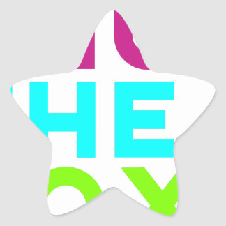 Fermez le logo de boîte sticker étoile