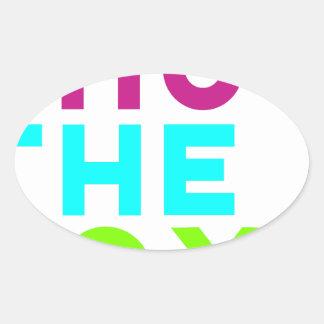 Fermez le logo de boîte sticker ovale