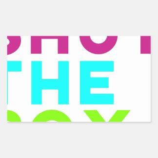 Fermez le logo de boîte sticker rectangulaire