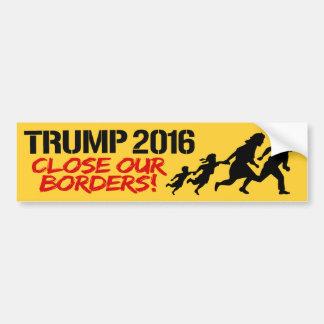 Fermez nos frontières - l'atout 2016 - .png autocollant de voiture