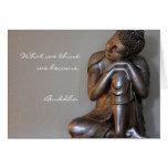 Fermez-vous de Bouddha argenté paisible Cartes De Vœux