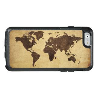 Fermez-vous de la carte antique 3 du monde coque OtterBox iPhone 6/6s