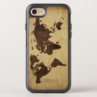 Fermez-vous de la carte antique 3 du monde coque otterbox symmetry pour iPhone 7