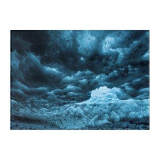 Fermez-vous de la glace bleue, Islande Art Mural En Acrylique