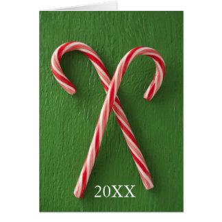 Fermez-vous des sucres de canne carte de vœux