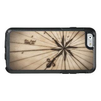 Fermez-vous du rose de vent sur la carte antique coque OtterBox iPhone 6/6s