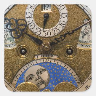 Fermez-vous d'une vieille horloge, Allemagne Sticker Carré