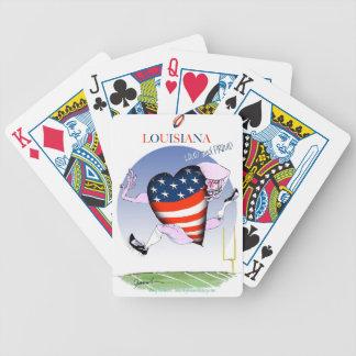 fernandes élégants bruyants et fiers de la cartes à jouer