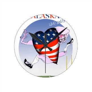fernandes élégants bruyants et fiers de l'Alaska, Horloge Ronde