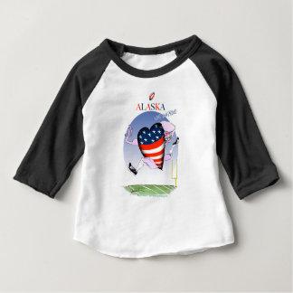 fernandes élégants bruyants et fiers de l'Alaska, T-shirt Pour Bébé