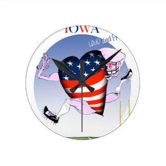 fernandes élégants bruyants et fiers de l'Iowa, Horloge Ronde