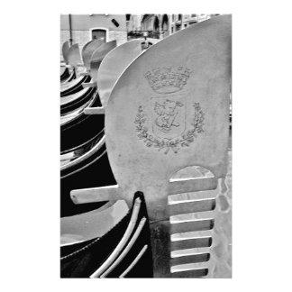 Fero des gondoles à Venise Italie Papier À Lettre Personnalisable