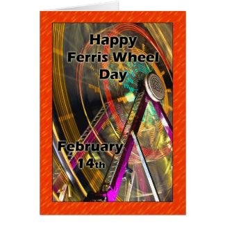 Ferris roue jour 14 février carte de vœux