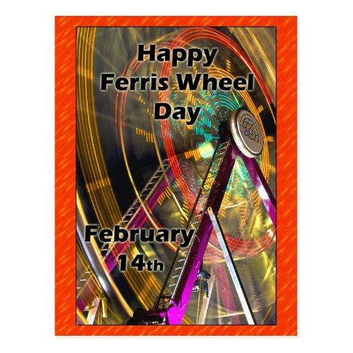 Ferris roue jour carte postale 14 février