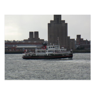Ferry au-dessus de la rivière le Mersey Carte Postale