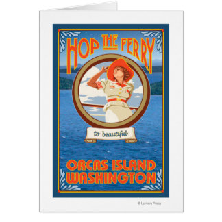 Ferry d'équitation de femme - orques île, cartes