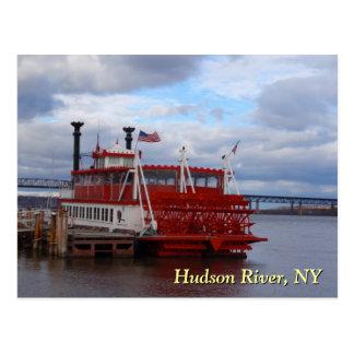 Ferry du fleuve Hudson Carte Postale