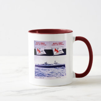 Ferry vintage le lac Michigan de wagon de chemin Mug