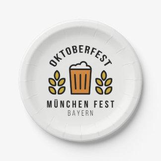 Fest Bavière d'Oktoberfest Beerfest Munchen Assiettes En Papier