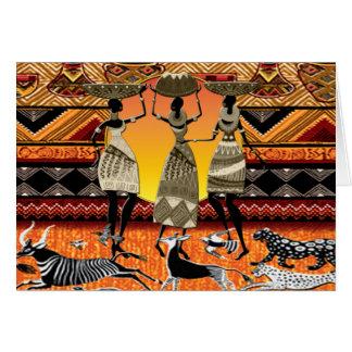 Festin africain carte de vœux
