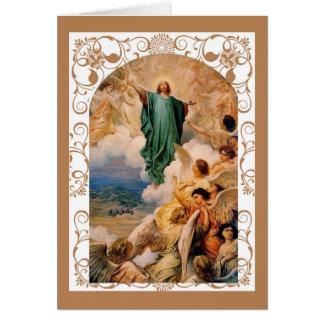 Festin de l'ascension de Jésus dans le ciel Carte De Vœux