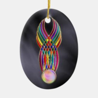 Festin d'ornement de bijoux ornement ovale en céramique
