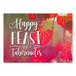 Festin heureux de carte de tabernacles