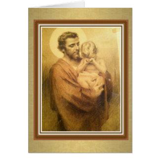 Festin religieux de carte de voeux de St Joseph