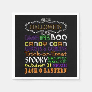 Festins et effrois de Halloween Serviettes En Papier
