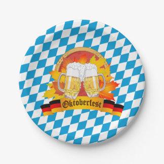Festival allemand de bière d'Oktoberfest Assiettes En Papier