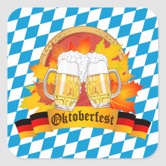 Festival allemand de bière d'Oktoberfest Sticker Carré