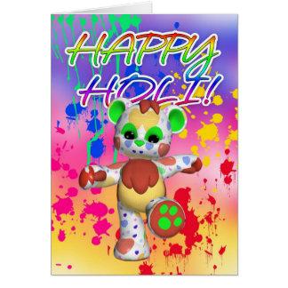 Festival de Holi de couleur - peignez éclabousse Carte De Vœux