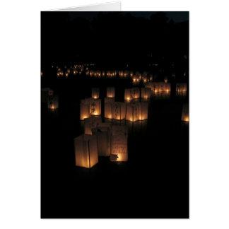 Festival de lanterne carte de vœux