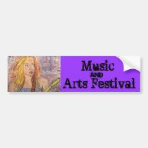 Festival de musique et d'arts adhésif pour voiture