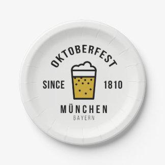 Festival d'Oktoberfest Beerfest depuis 1810 Assiettes En Papier