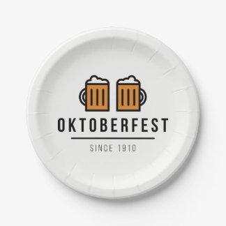 Festival d'Oktoberfest Beerfest depuis 1910 Assiettes En Papier