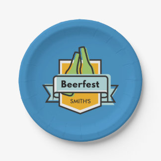Festival fait sur commande d'Oktoberfest Beerfest Assiettes En Papier