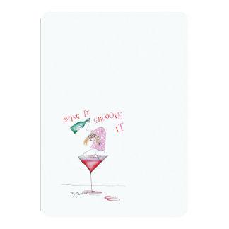 fêtard, fernandes élégants carton d'invitation  12,7 cm x 17,78 cm