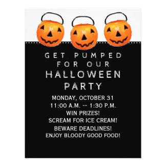 Fête au bureau de Halloween Prospectus 21,6 Cm X 24,94 Cm