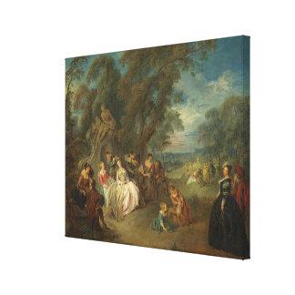 Fête Champêtre, C. 1730 (huile sur la toile) Toiles