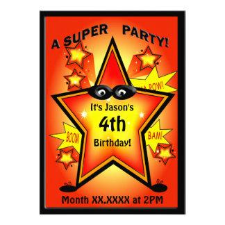 Fête d anniversaire d étoile de super héros d enfa